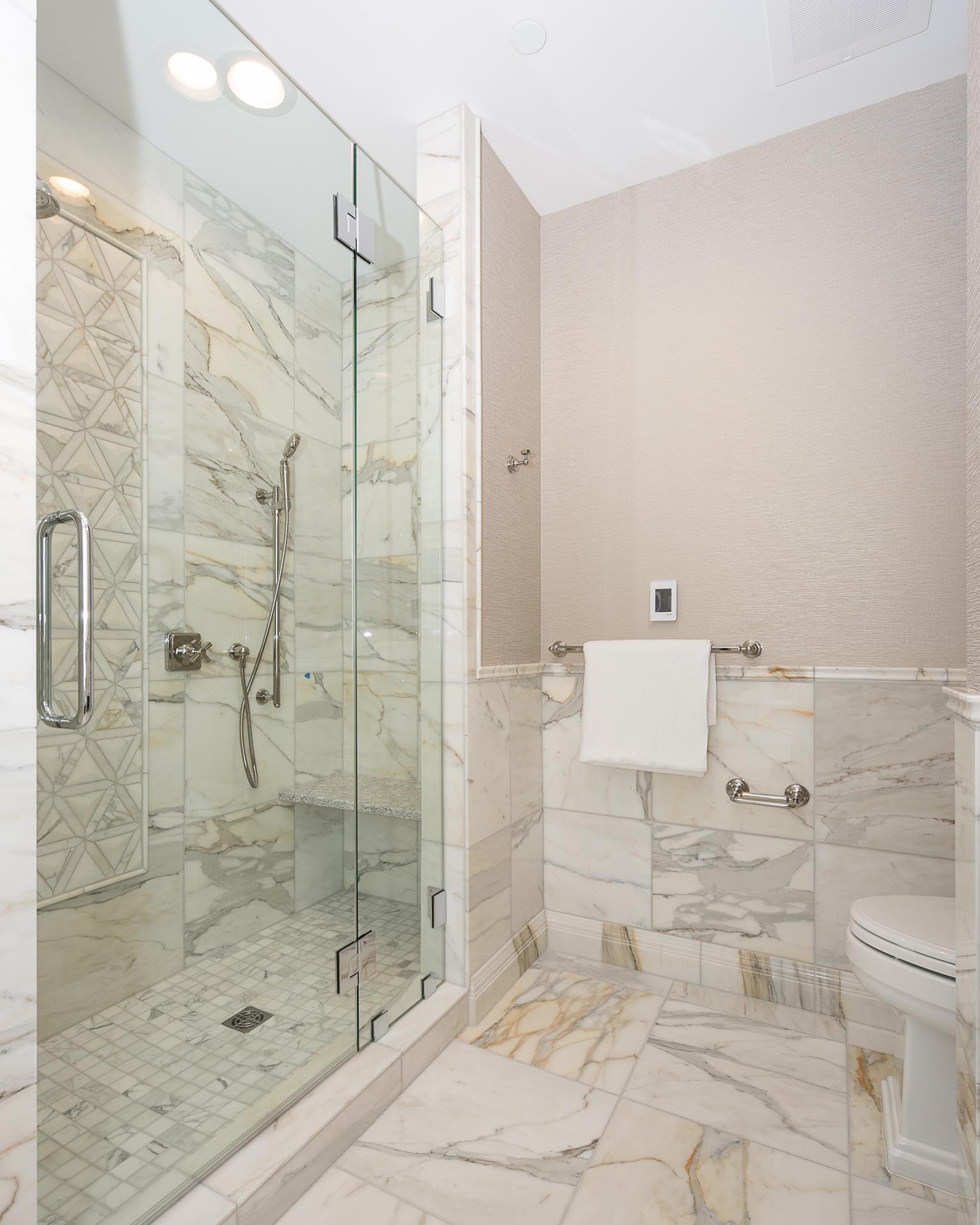 Shower and Toilet | H Residence | Midland, MI