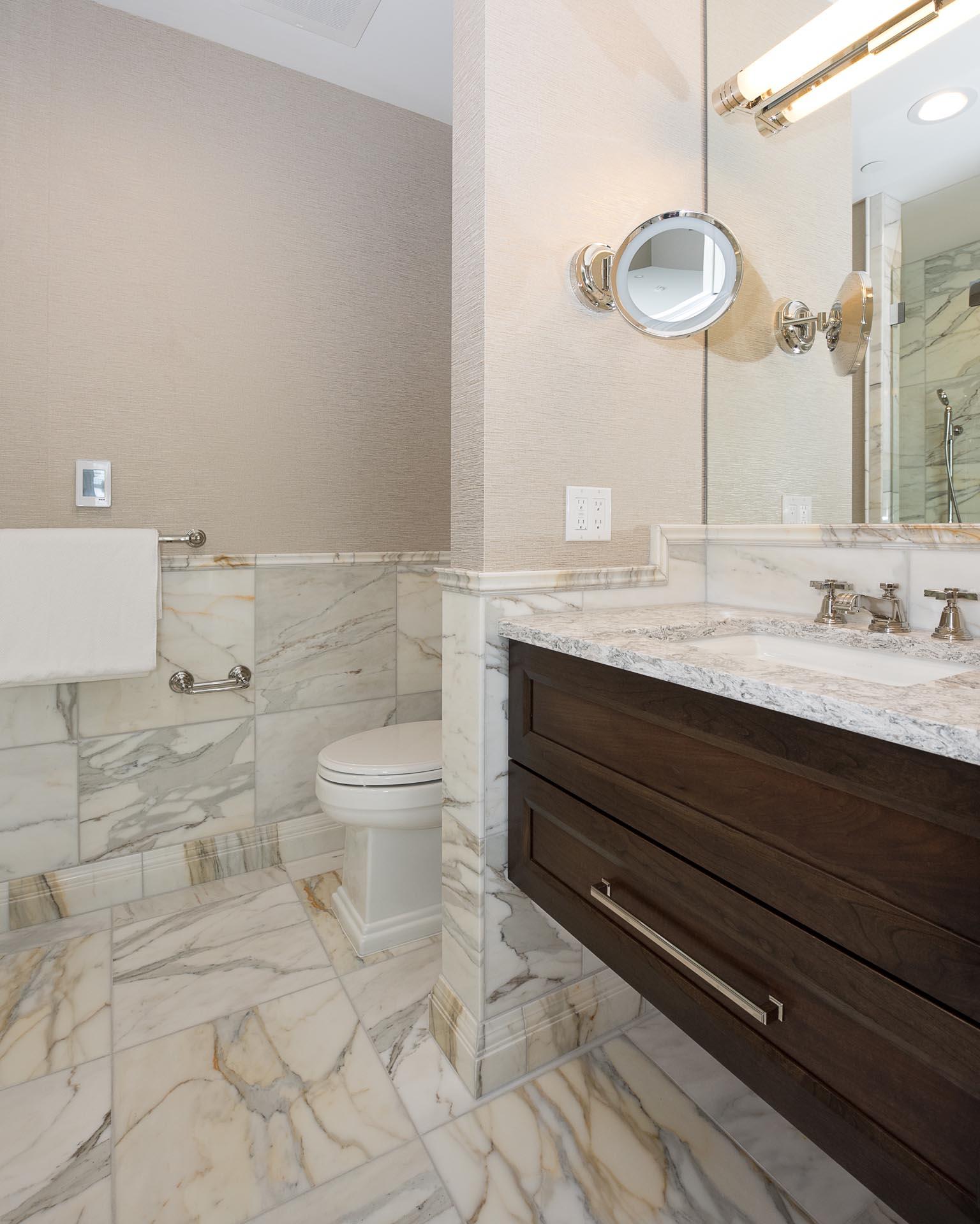 Bathroom Sink and Toilet | H Residence | Midland, MI