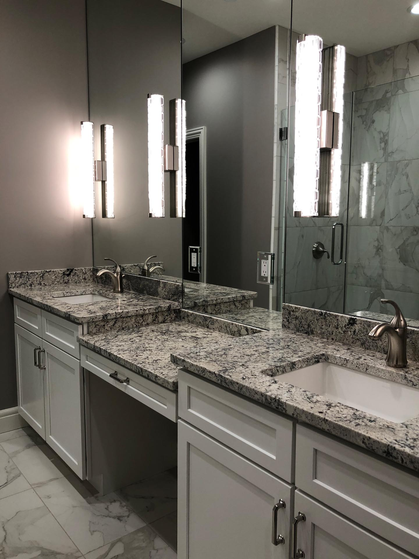 Bathroom Counter Design | H Residence | Midland, MI
